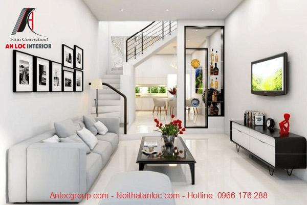 Vật dụng nội thất được bố trí với diện tích