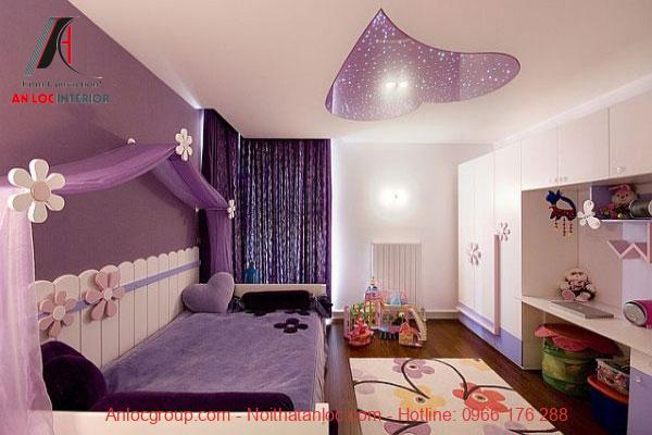 Mẫu 14: Phòng công chúa đơn giảnhòng ngủ
