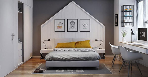 Một gợi ý phòng ngủ cho bé gái cá tính