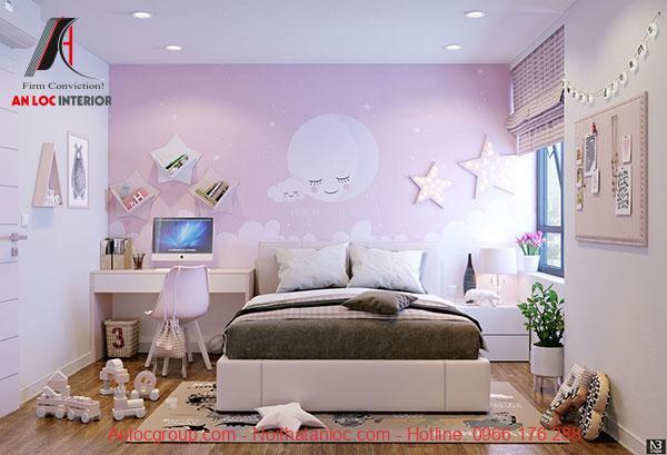 Mẫu 19: Phòng ngủ kết hợp vật dụng trang trí