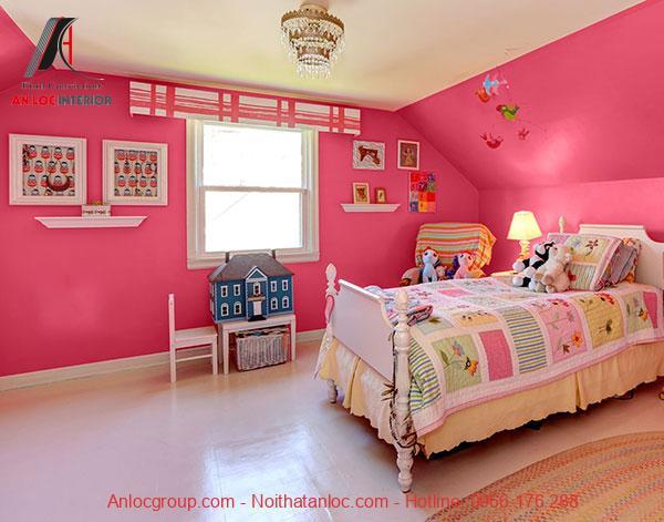 Mẫu 10: Phòng ngủ kết hợp vật dụng trang trí
