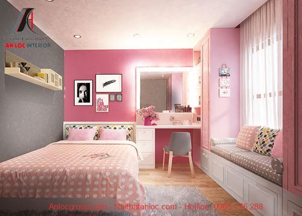 Mẫu 16: Không gian phòng ngủ nhỏ gọn, hiện đại