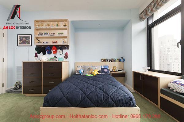 Mẫu 20: Không gian phòng với gam màu ấm