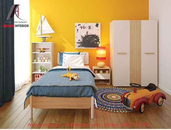 Mẫu 13: Phòng ngủ mang hơi hướng năng động