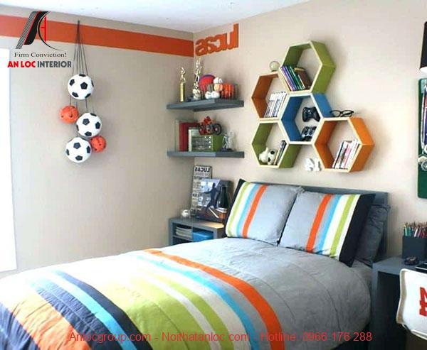 Mẫu 7: Phòng ngủ ưa thích sự năng động
