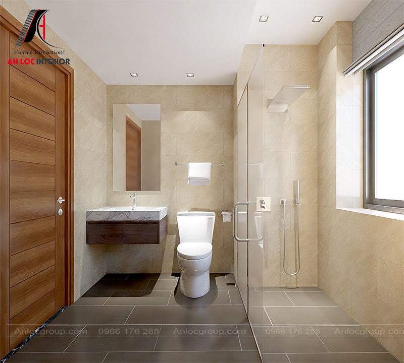 Phòng tắm chung tầng 3