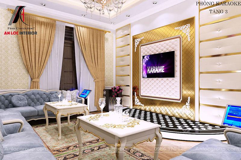 Gam màu trắng kèm vàng làm nổi bật vẻ đẹp sắc nét, tinh tế của không gian