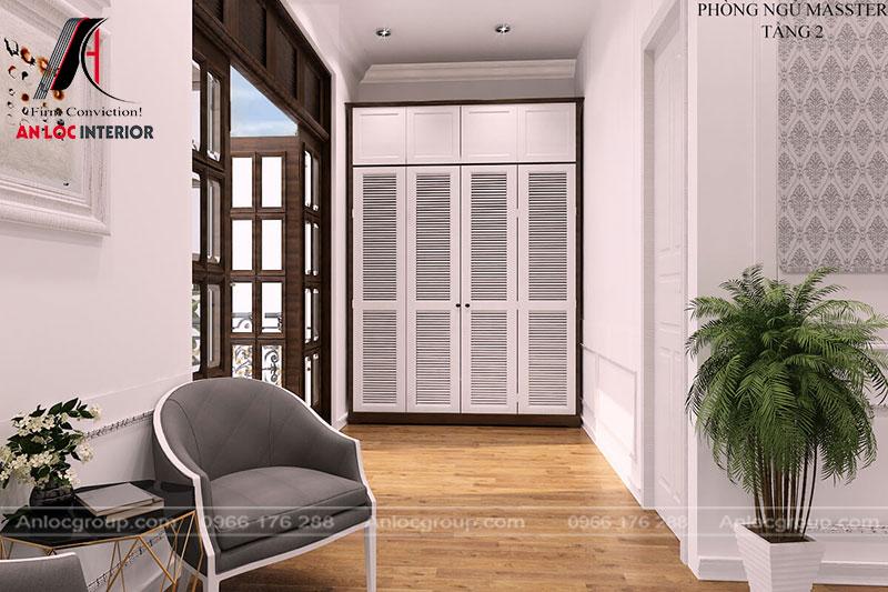 Một góc cửa phù hợp với màu tường và sàn nhà