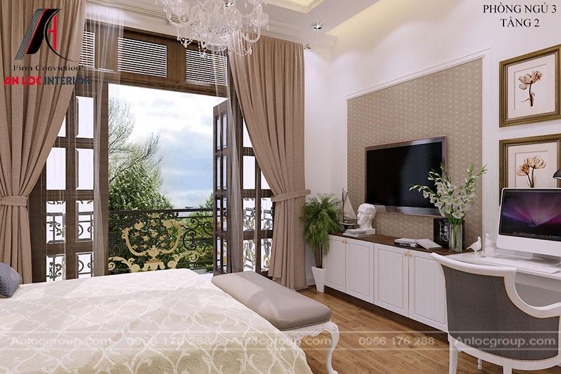 Một góc nhìn của phòng ngủ tạo cảm giác bình yên, thoải mái