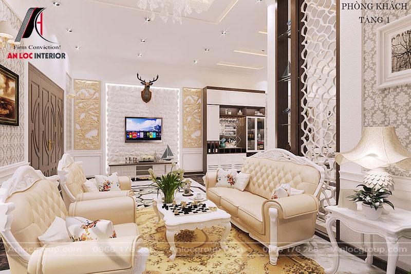 Lựa chọn vật dụng trang trí phòng khách có tông màu phù hợp với nội thất