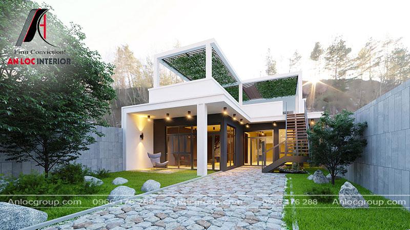 Thiết kế nhà cấp 4 mái bằng tại Phú Thọ