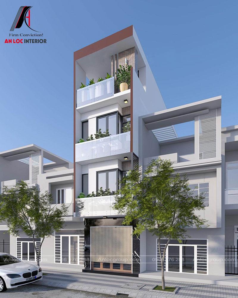 Góc nhìn nghiên trên cao căn nhà với sức hút mạnh mẽ