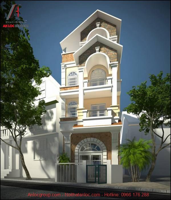 Vẻ đẹp tân cổ điển làm nổi bật căn nhà giữa khung cảnh xung quanh