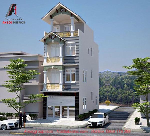 Mẫu thiết kế nhà mặt tiền 4m bao gồm 4 tầng