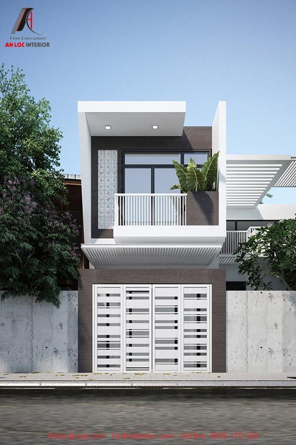 Mô hình thiết kế nhà ống mái bằng 2 tầng được yêu thích nhất