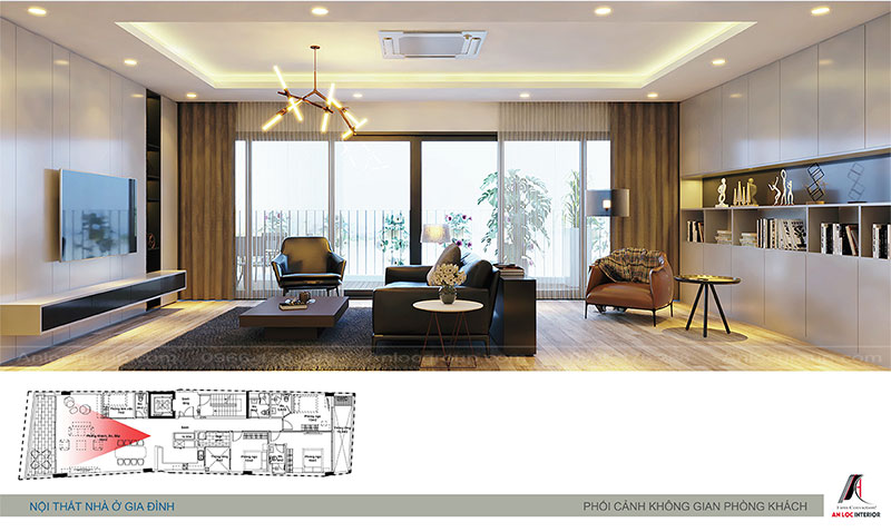 Thiết kế nội thất nhà phố hiện đại tại Hà Nội