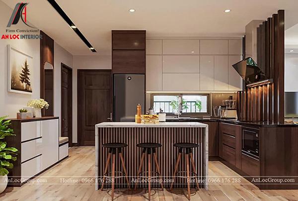 Phòng bếp đẹp cho căn hộ chung cư