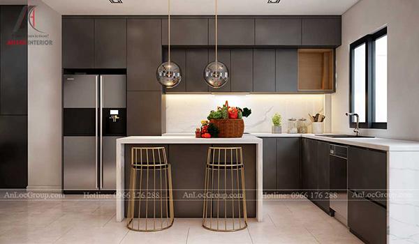 Mẫu phòng bếp nhà phố
