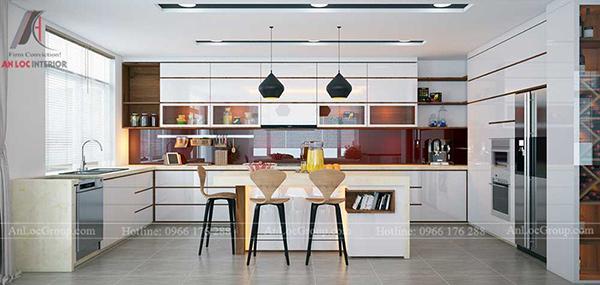 Mẫu phòng bếp cho nhà biệt thự
