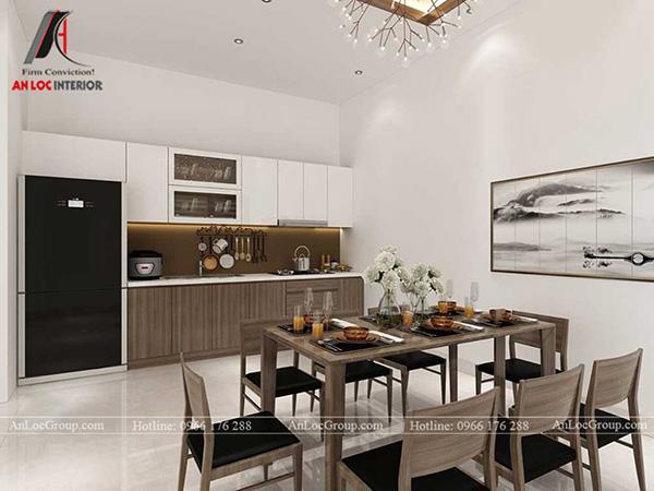 Thiết kế phòng bếp phong cách tối giản