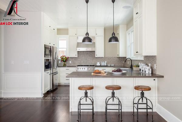 Thiết kế nội thất phòng bếp gỗ đẹp