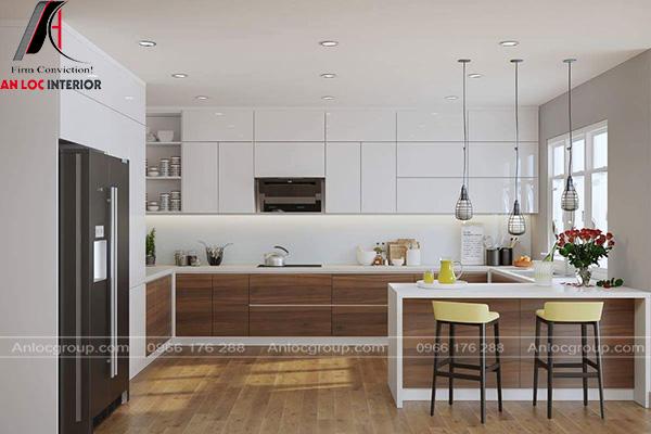 Mẫu phòng bếp MDF