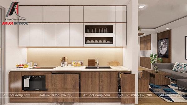 Thiết kế nội thất phòng bếp với cách sắp xếp khoa học, tiện nghi