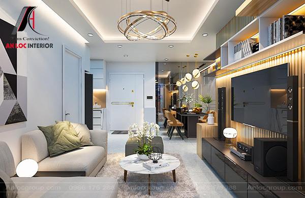Mẫu 44 - Phòng khách chung cư đẹp hiện đại