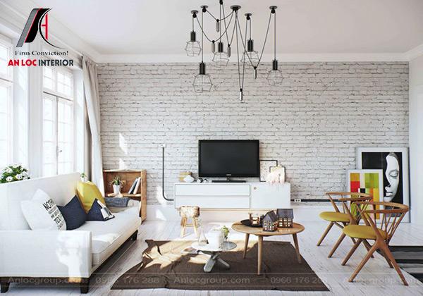 Mẫu 50 - Thiết kế phòng khách phong cách Scandinavian
