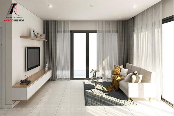 Mẫu 42 - Phòng khách tối giản với đồ nội thất hết sức hạn chế