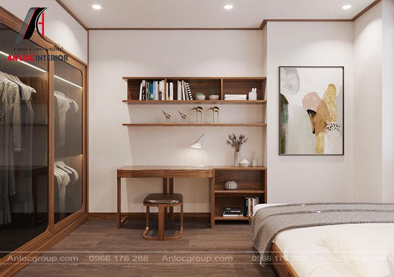 Thiết kế phòng ngủ gỗ Óc Chó