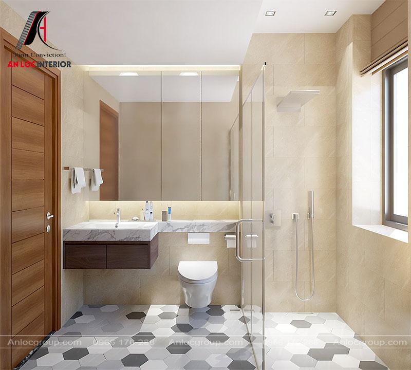Thiết kế phòng tắm tầng 2