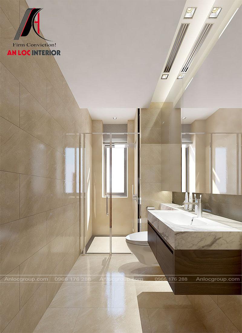 Thiết kế phòng tắm trong phòng con trai