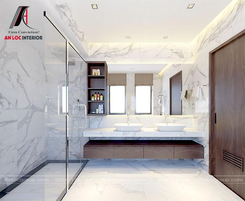 Thiết kế phòng tắm trong phòng master