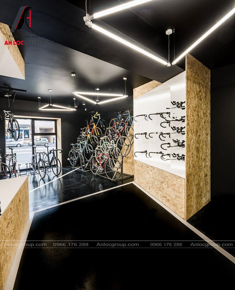 Một góc quan sát của showroom xe đạp