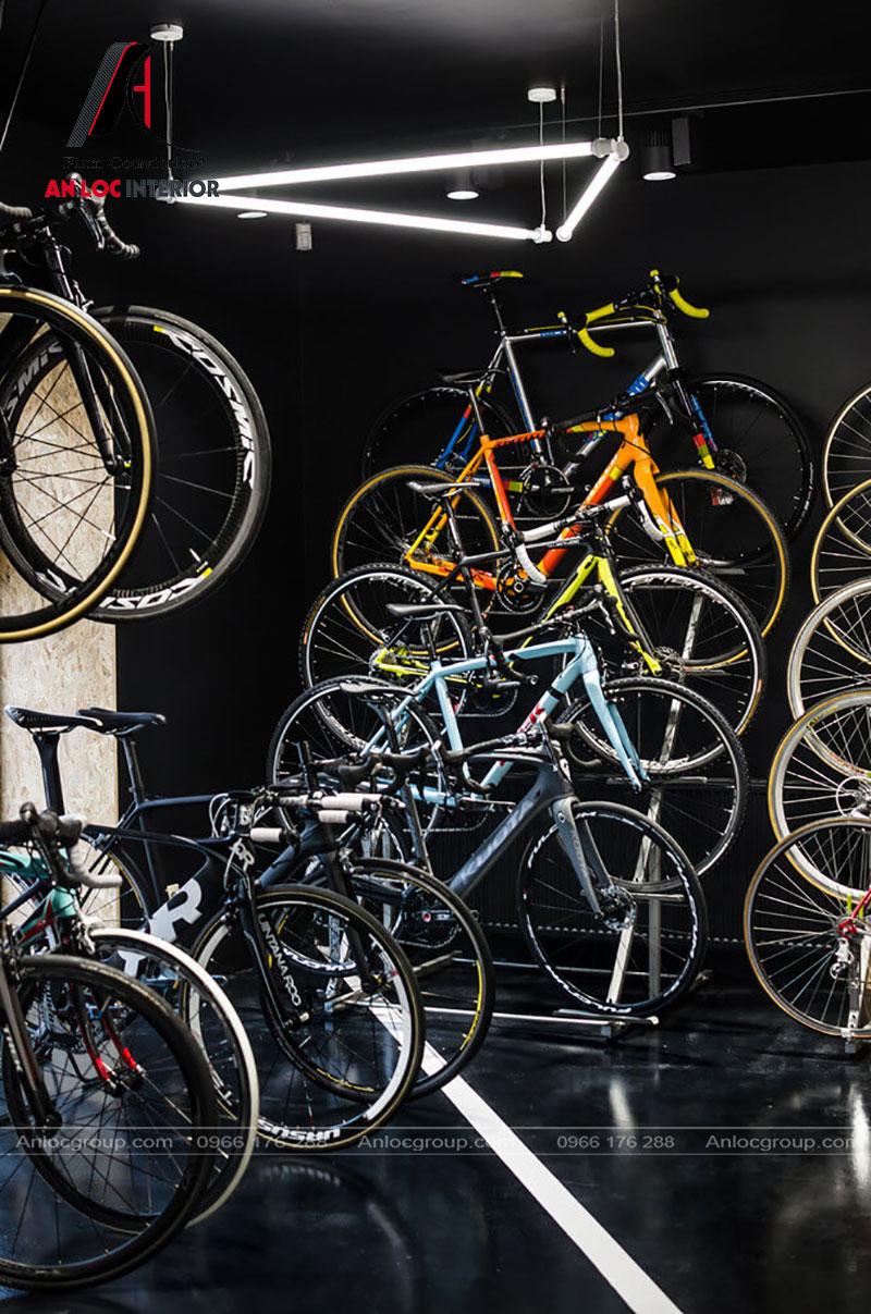 Khu vực bố trí các mẫu xe đạp hiện đại