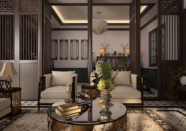 Phòng khách mang vẻ đẹp truyền thống