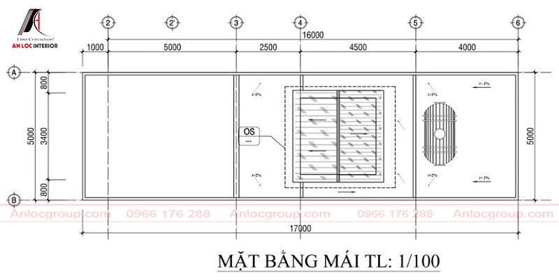 Phần mái là nơi để đường ống nước cũng như mang đến không gian mở cho bố cục căn nhà