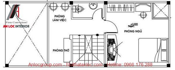 Tầng lửng được bố trí hợp lý, hiện đại
