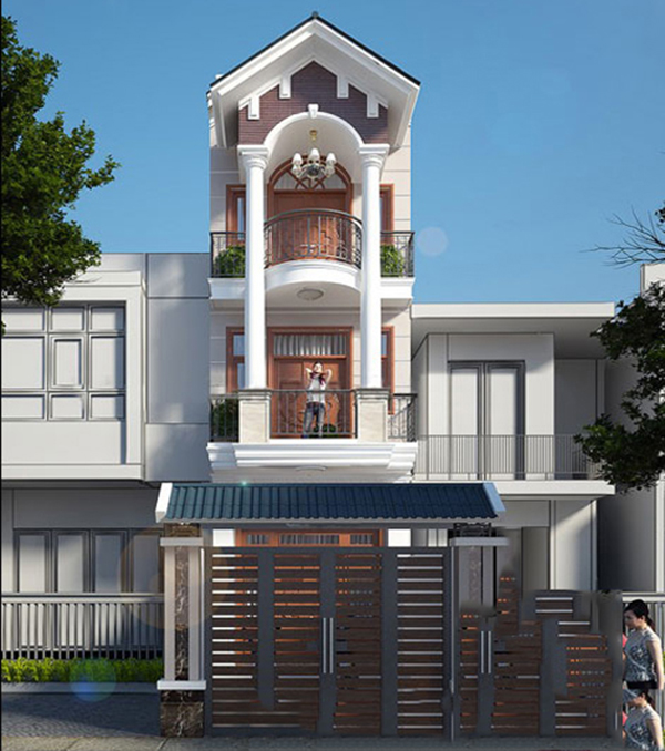 Kiến trúc nhà ống 3 tầng mái thái