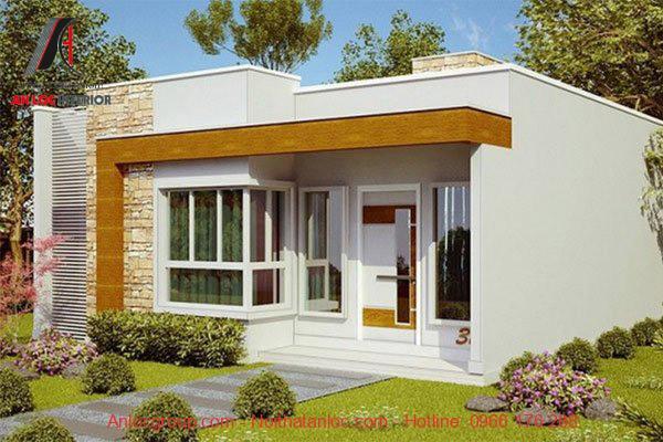 Kết cấu nhà cấp 4 mái bằng ổn định, đường nét ấn tượng