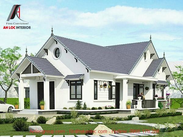 Nhà cấp 4 với kiến trúc 1 tầng bao gồm sân vườn, tiêu canh là xu hướng phổ biến nhất hiện nay