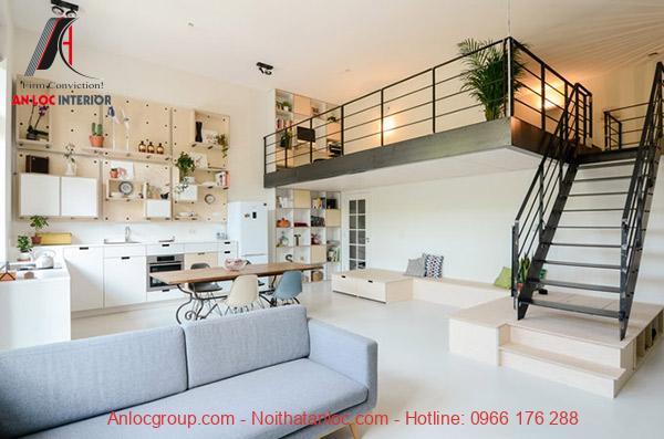 Gác lửng là cách tiết kiệm diện tích căn nhà đồng thời khiến căn nhà có điểm nhấn ấn tượng