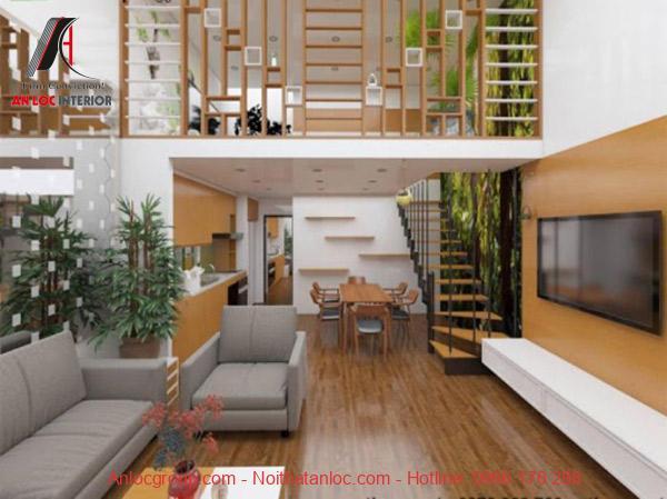 Gác lửng vừa tạo điểm nhấn cho căn nhà mà không mất đi kiểu dáng vốn có