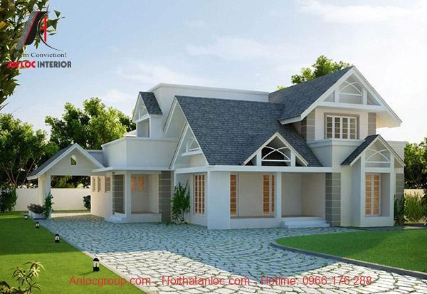 Kiến trúc mái giật cấp tạo nên vẻ đẹp sang trọng, độc đáo