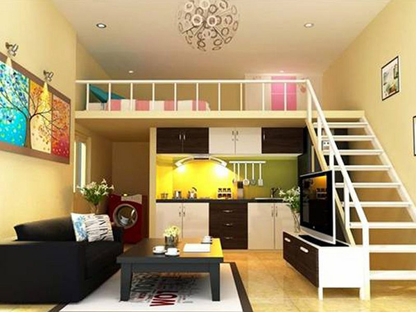 Có thể trang trí tầng lửng theo phong cách hoặc màu sắc mà gia chủ yêu thích miễn sao hài hòa với ngôi nhà
