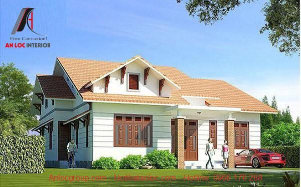 Màu sơn mái cần cân bằng màu sắc với sơn ngoại thất để tạo nên những căn nhà cấp 4 đẹp