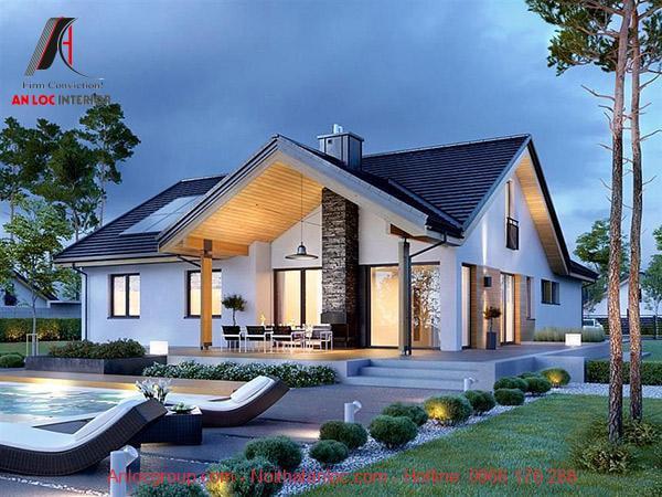Ánh sáng nội thất cân bằng với tiểu cảnh căn nhà mang đến mẫu nhà cấp 4 ấn tượng