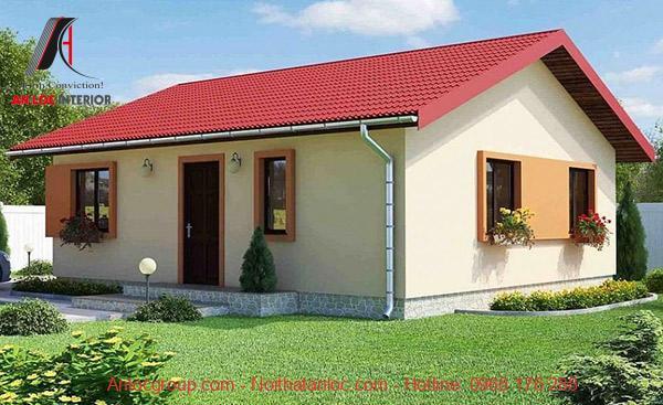 Nhà cấp 4 mái tôn là loại hình được lựa chọn chủ yếu ở nông thôn