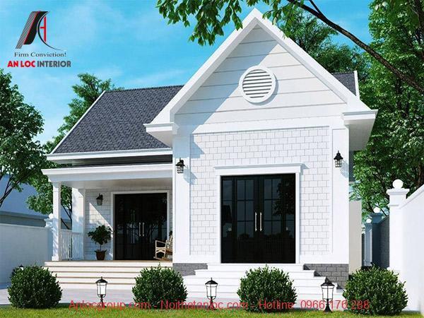 Màu sắc bắt mắt, kết cấu độc đáo kà những căn nhà cấp 4 chữ L mang lại
